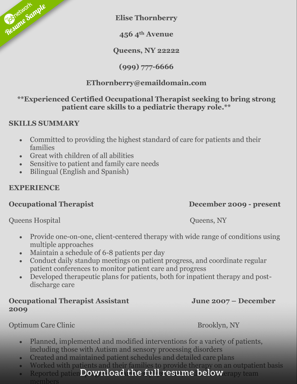 occupation-therapist-resume-elise