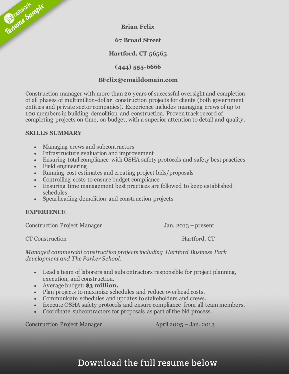 construction-resume-construction-manager