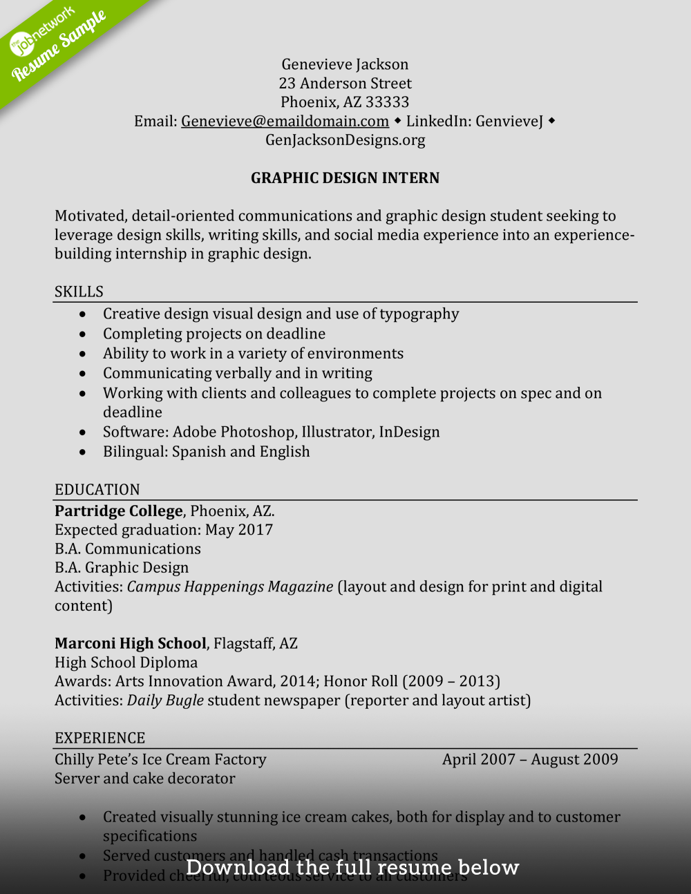 College Student Resume For Internship from tjn-blog-images.s3.amazonaws.com