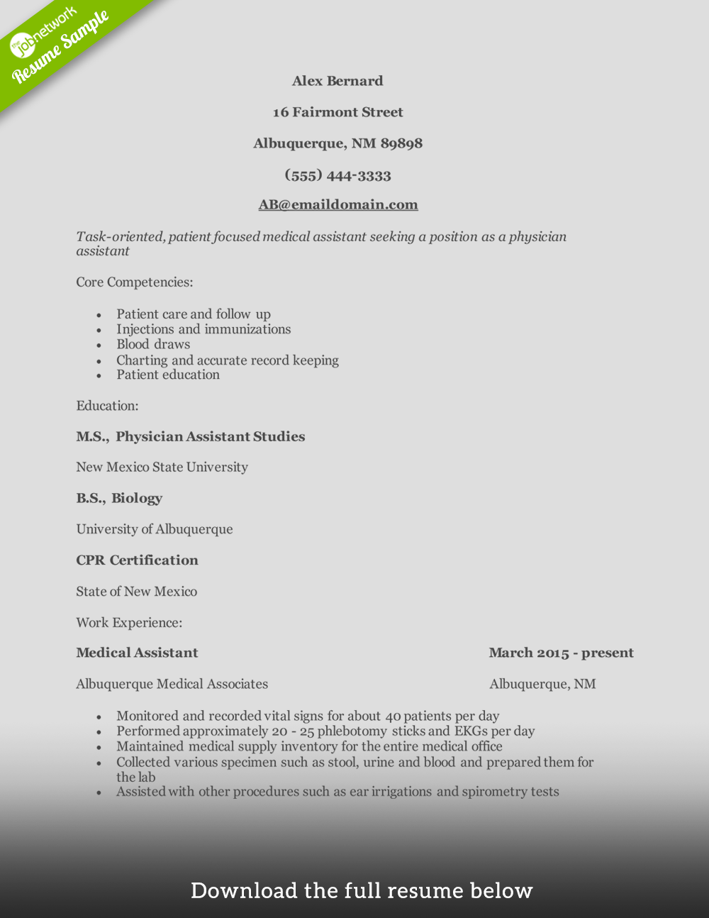 physician-assistant-resume-entry-level