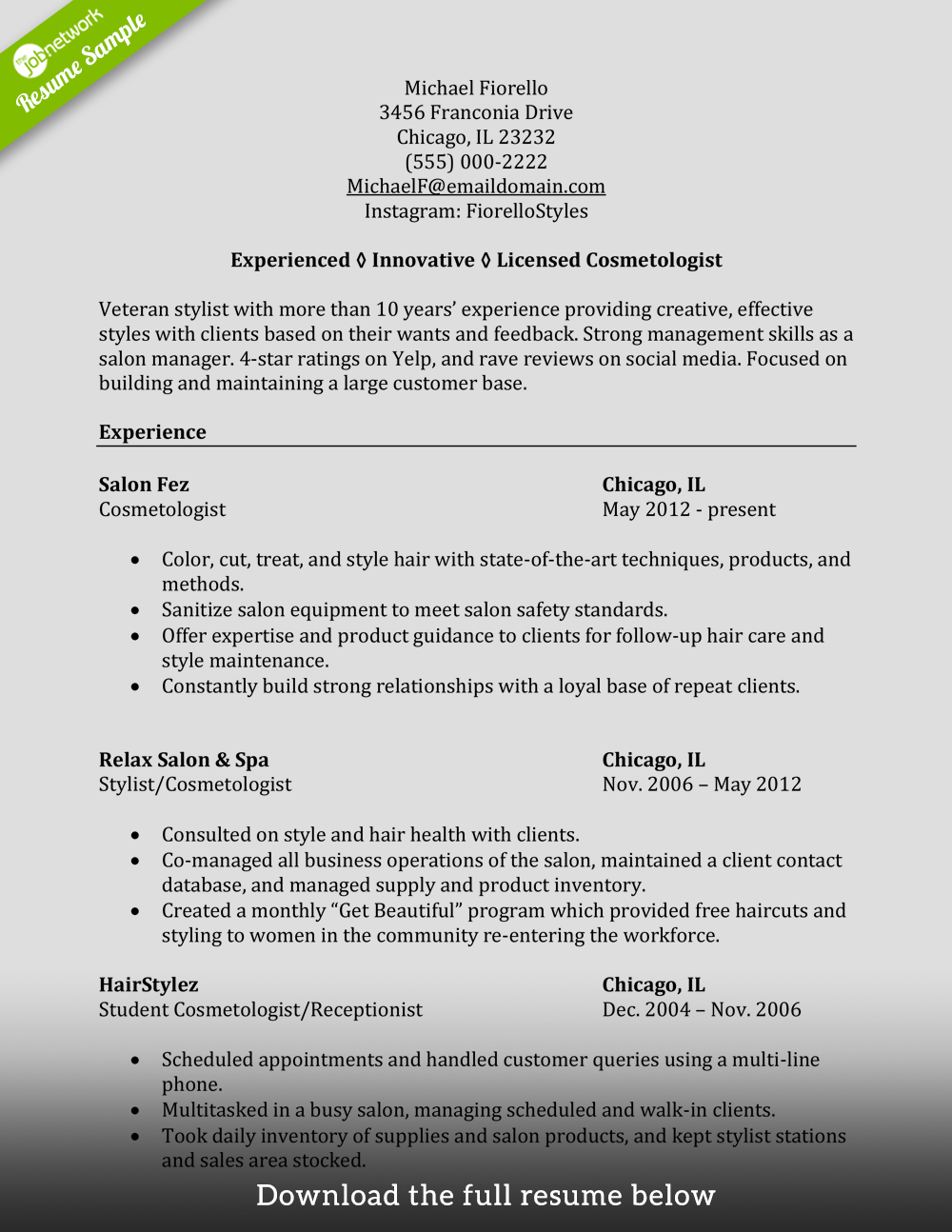 cosmetology-resume-experienced-hair-stylist
