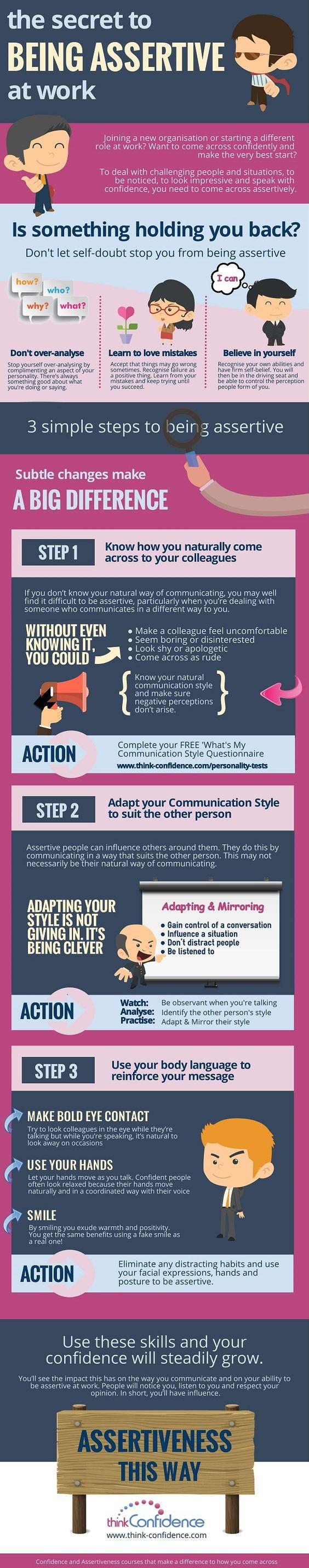 be more aggressive at work