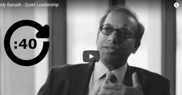 Sandy Baruah on quiet leadership