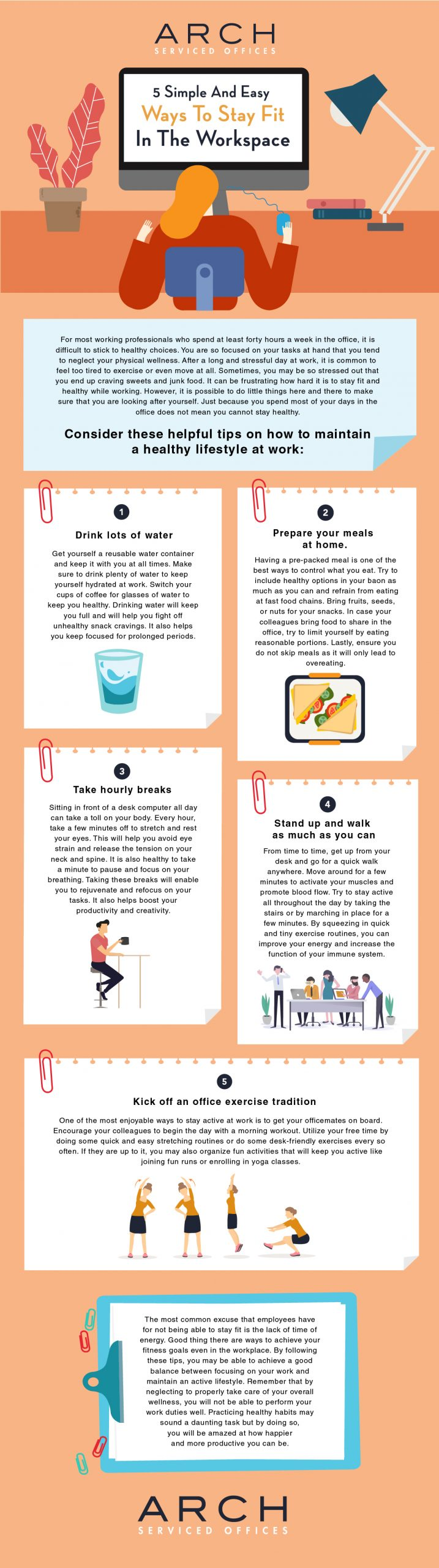 How to stay fit in the workplace